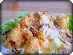{Copycat} Applebee's Oriental Chicken Salad on Mandy's Recipe Box.