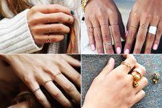 Os Skinny Rings são anéis fininhos que muitas vezes podem trazer similaridade com uma aliança.