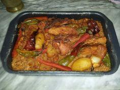 Borghol mfawar au poulet