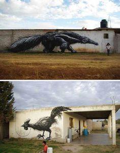 mexican street art by Belgian artist ROA
