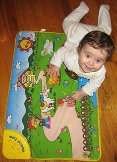 WolVol Baby Play Mat with Musical Animals and Farm Activity 275 x 195 inches  Touch Crawl Sound Visual Activities >>> Click image for more details.Note:It is affiliate link to Amazon.