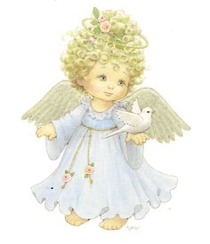 angelito con paloma de la paz