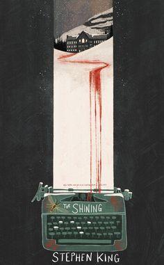 The Shining book cover redesign - Illustration Best Book Covers, Beautiful Book Covers, Book Cover Art, The Shinig, Stephen King Tattoos, Estilo Tim Burton, Stephen King Books, Stephen King Shining, Steven King