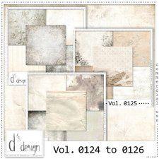 Vol. 0124 to 0126 - Vintage Papers by Doudou's Design  cudigitals.com cu commercial scrap scrapbook digital graphics#digitalscrapbooking #photoshop #digiscrap