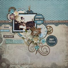 "All About Scrapbooks Australia: Cocoa Vanilla Studio ""Made of Awesome"" & Kaisercraft ""Time Machine"" - By Linda Eggleton"