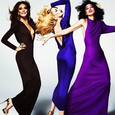 Marisa Berenson, Jerry Hall and Pat Cleveland for MAC