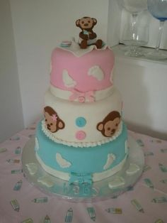 Little Monkey Baby Shower cake By kmpaoff21 on CakeCentral.com