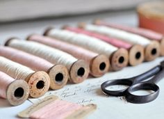 RESERVED antique spools of thread from a paris by petitsdetails, €54.00