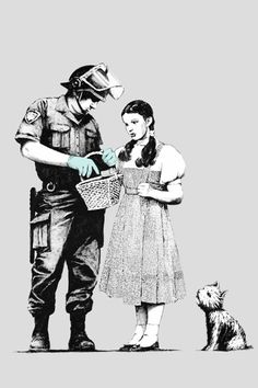 Banksy, Dorothy Stop And Search Art Print