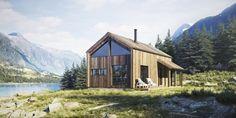 Sande Hus og Hytter AS - Seterstuggu mini Mini, House Styles, Modern, Cabins, Destiny, Home Decor, Ideas, Scandinavian Home, House Beautiful