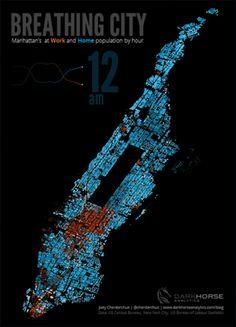 Breathing Manhattan (gif)
