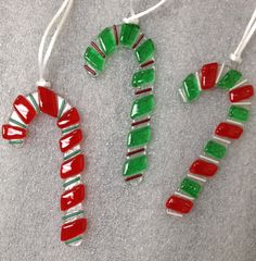 Fused Glass Candy Canes