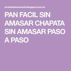 PAN FACIL SIN AMASAR CHAPATA SIN AMASAR PASO A PASO