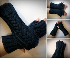 handmade by madewithlovenatali on Etsy Fingerless Gloves Knitted, Knit Mittens, Arm Warmers, Knitting, Trending Outfits, Winter, Handmade Gifts, Etsy, Fashion
