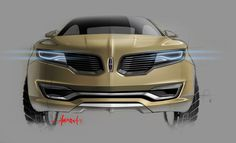 Lincoln MKX Concept - Design Sketch by Andrea di Buduo New Lincoln, Lincoln Mkx, Car Design Sketch, Car Sketch, Lincoln Motor Company, Ford Lincoln Mercury, Motorcycle Design, Car Ford, Transportation Design