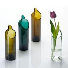 RECYCLING VASE oder KARAFFE aus Altglas
