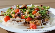 Tofu, Spaghetti, Vegan, Chicken, Ethnic Recipes, Vegans, Noodle, Cubs