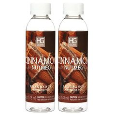 Aromatherapy Hosley's Premium, Set of 2 Cinnamon Nutmeg. Concentrated, Highly Scented warming OILs. 6 fl oz each Made in USA.. BULK BUY. Ideal GIFT for weddings, spa, Reiki, Meditation ** Remarkable product available now. : aromatherapy