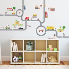 Decowall Road and Car Wall Stickers Removable Nursery Home Kids Decals Arts 1404 #DecowallDM1404Decor #EducationalFairyTaleFunnyKindergarten