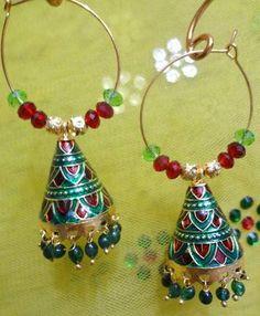handmade meenakari earrings