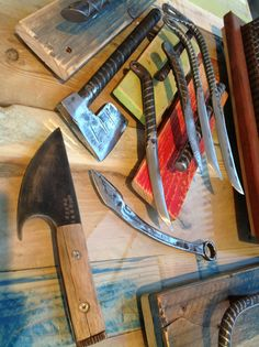 Rebar Knives by Mike Nelms at FabLab808 Studios-Hawaii....