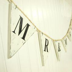 Heart Mr /& Mrs Dusky Blue Wedding Anniversary Bunting Garland Flag Banner