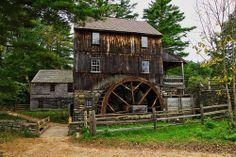 Sturbridge MA, Old Sturbridge Village - grist mill & water wheel