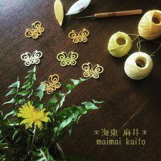 #tatting #maimaikaito #originaldesign #buterfly