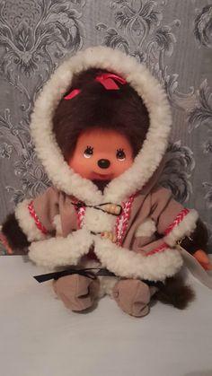 Sekiguchi Monchichi Monchhichi als Eskimo Mädchen - schönes Sammlerstück