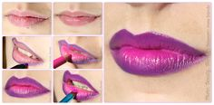 Photo. Beauty. Makeup.: Tutorial. Ombre lips