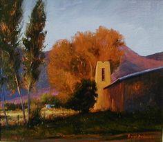 """""""Autumn Palette"""" l 7x8 I Dix Baines I Fine Artist l Original Oil Paintings I New Mexico l Autumn Color l Southwest l Architecture l www.dixbaines.com"""