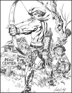Jack Kirby used to do Green Arrow comics, plus a host of old Western titles. Looks like he found a way to combine the two. Book Cover Art, Comic Book Covers, Comic Book Artists, Comic Books Art, Jack Kirby Art, Alex Toth, Joe Kubert, The Mighty Thor, Comic Book Collection