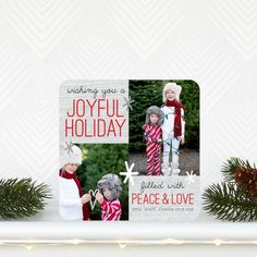 Filled With Peace - Holiday Photo Cards by Robyn Miller for Tiny Prints in Tomato Red