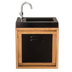 Meuble lave-mains sensea mano avec miroir | Leroy Merlin | WC ...