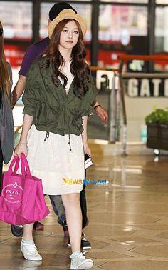 Sulli at airport