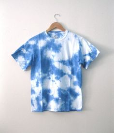 Hand-Dyed Blue Sky tee / tie dye cotton 'Day Dreamer' by SKYVandH