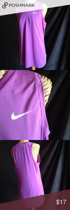 n i k e Light & flowy...this top is intentionally long for a long/loose fitting look. Nike Pro Combat series.  Size large, gently used. Just do it 👊 Nike Tops