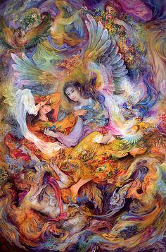 Her Blue Persian Wings Art Asiatique, Iranian Art, National Art, Angel Art, Visionary Art, Sacred Art, Psychedelic Art, Islamic Art, Les Oeuvres