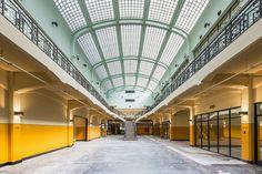 Koepel in glastegels Mijnsite Waterschei - www.verhaert.be Thor, Art Deco Design, Medium, Medium Long Hairstyles