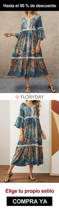 Este vestido floral es super elegante