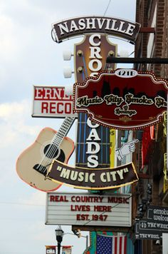 Music Row in Nashville, Tennessee.
