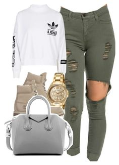 """""""adiddas 3.2.16"""" by thebaddestbaddie ❤ liked on Polyvore featuring adidas, Timberland, Lucien Piccard and Givenchy"""