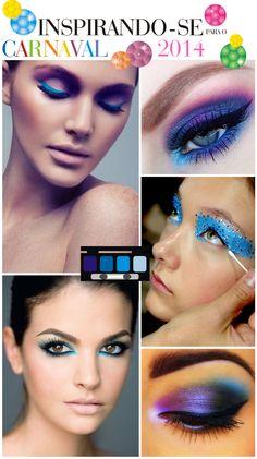 Inspirações para maquiagem de carnaval.
