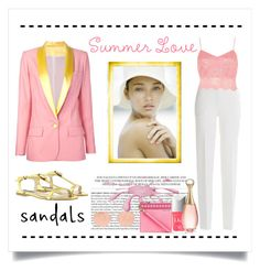 """""""Summer Love. ...Sandals"""" by conch-lady ❤ liked on Polyvore featuring Racil, Patrizia Pepe, Barbara Bui, Ray-Ban, MICHAEL Michael Kors, River Island, Christian Dior and summersandals"""