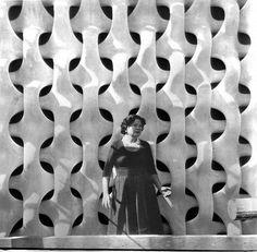 Panel decorativo de pared / de piedra / perforado / 3D CHURCH IN LIESING by Robert Kramreiter Erwin Hauer Studios