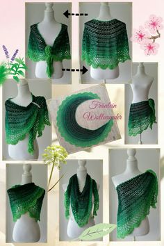 Schultertuch * half moon shawl * Menaluzza * gehäkelt * crochet  https://www.facebook.com/fraeuleinwollwunder