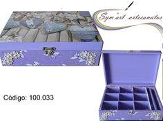 Porta jóias com porta anéis em MDF... Email: symartartesanato@gmail.com