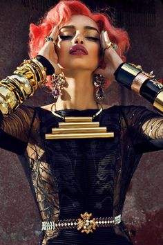 Oooo! A futuristic #Redhead ! #RedHair #LumaGrothe  by Urivaldo Lopes for  L'Edito SS '12.