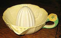 ~Vintage Carlton Ware Art Deco Yellow Buttercup Lemon Reamer~