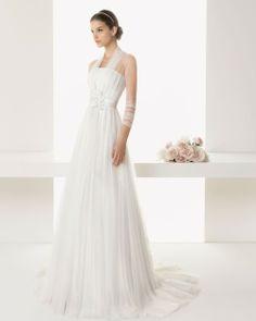 Sheath Column Strapless Brush Train White Wedding Dress H4rc0221 for $890